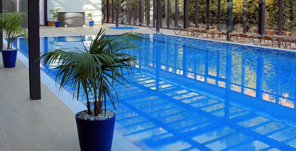 Refresh with a dip in the heated, freshwater pool