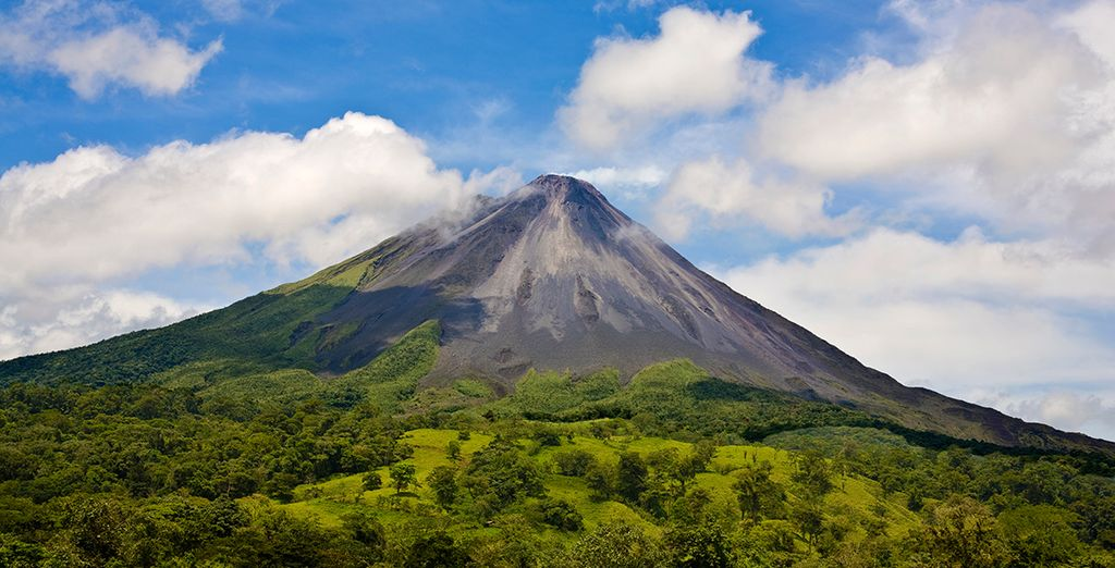 From mighty jungle covered volcanoes