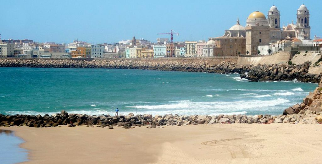 Or frolick by the beach overlooking the blue waters of the Atlantic Ocean