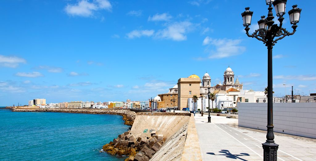 Jet off to this charming port in southwestern Spain