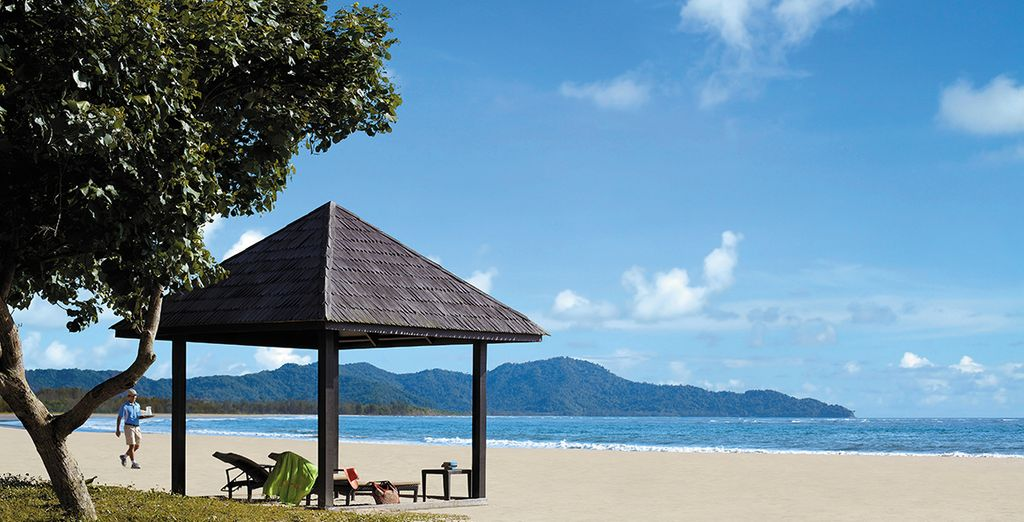 And lounge on the stunning beach