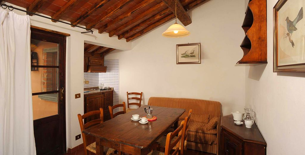 Or relax in the homely farmhouse setting