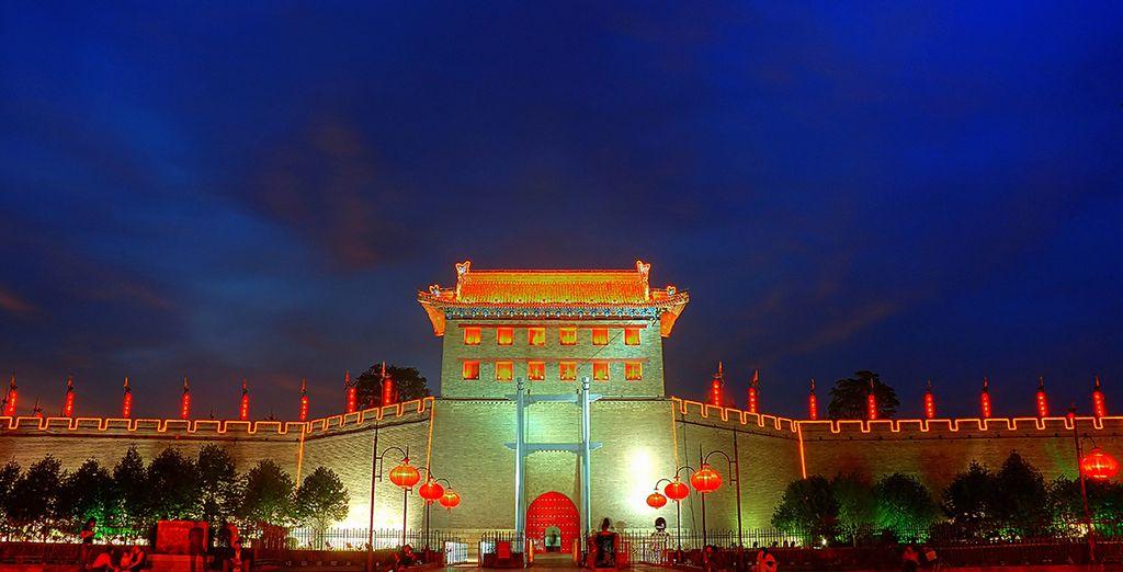 Walk along the Ancient City Wall, Xian
