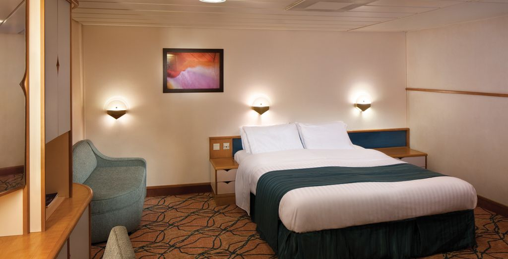 On board, you will enjoy a choice of staterooms
