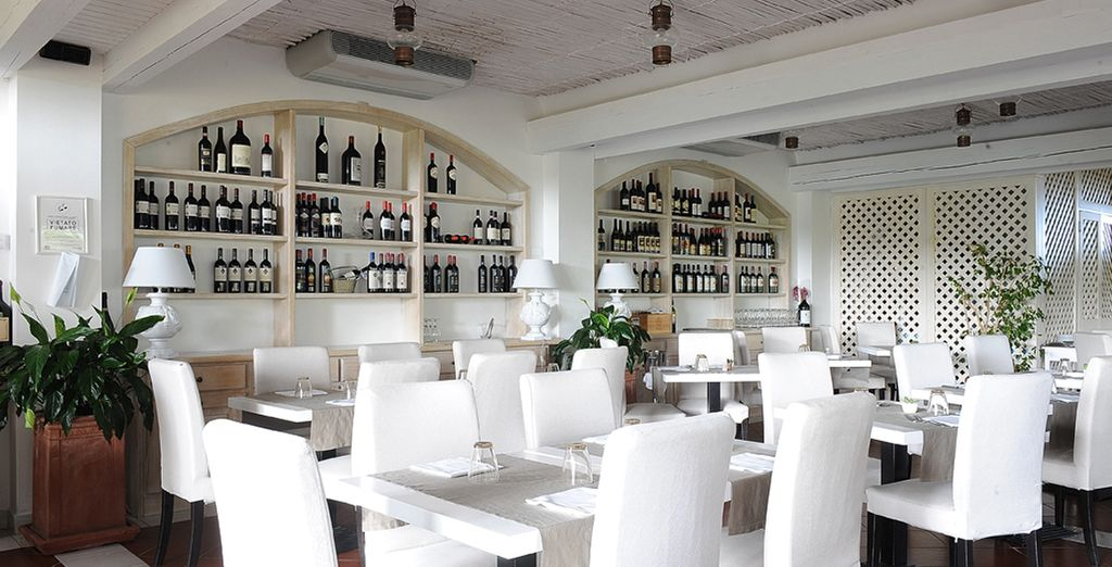 Savour a succulent Italian meal at the restaurant