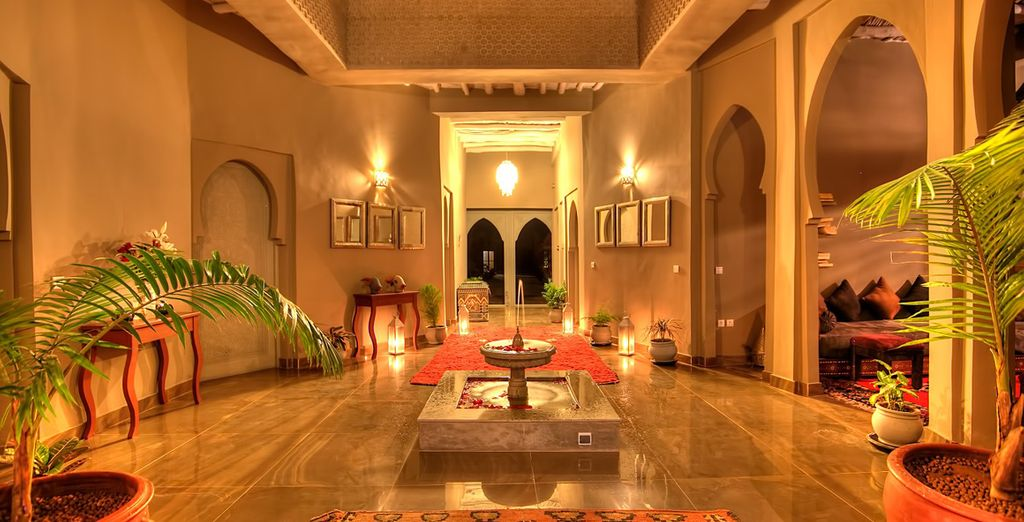 Take in the traditional Moroccan decor as you enter