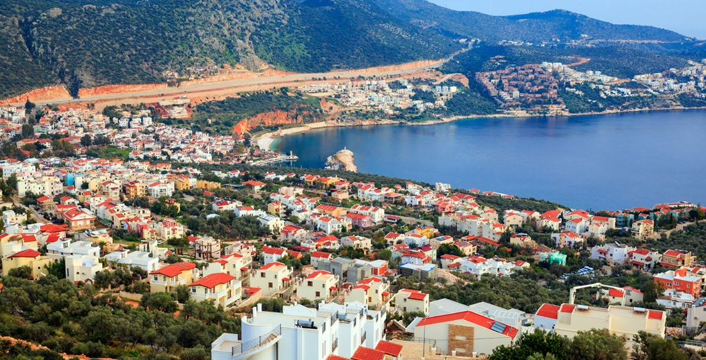 Next stop: Kalkan, where you can explore its winding streets