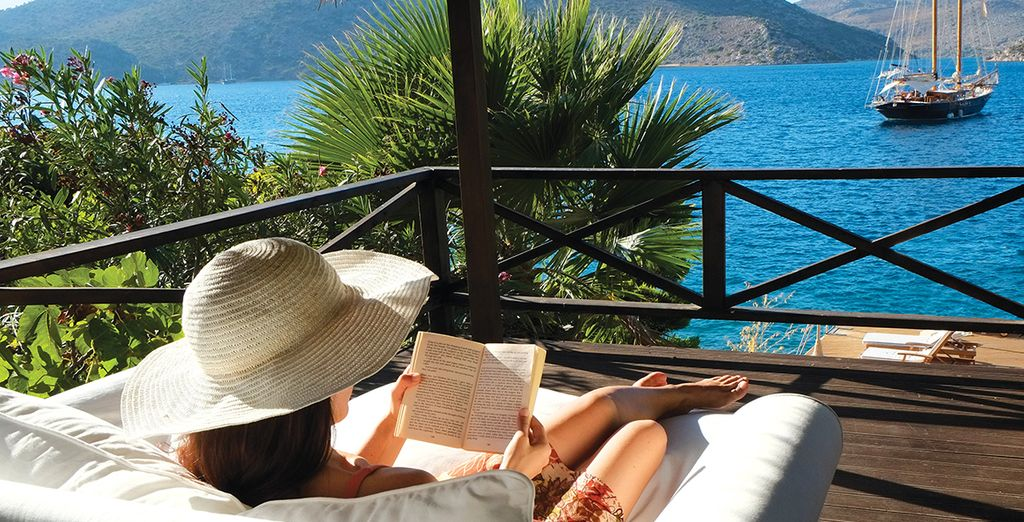 Relax in the sun with a good book