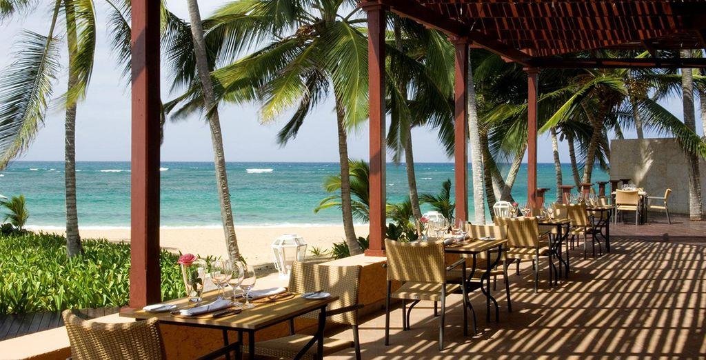 Choose from the Laveranda, Tau and Gourmond restaurants