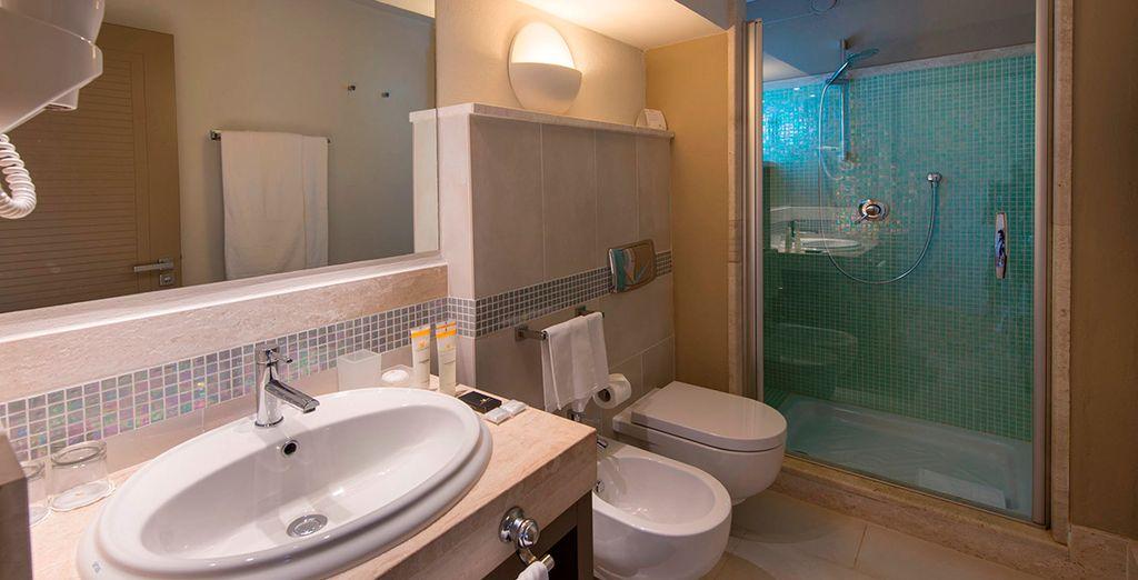 Each has modern, luxurious amenities