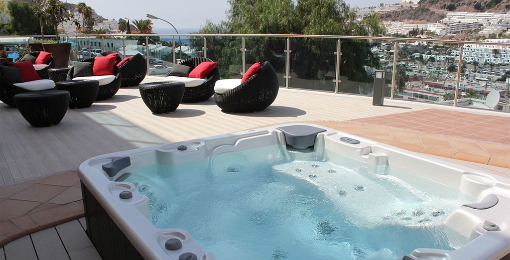 As you relax in style