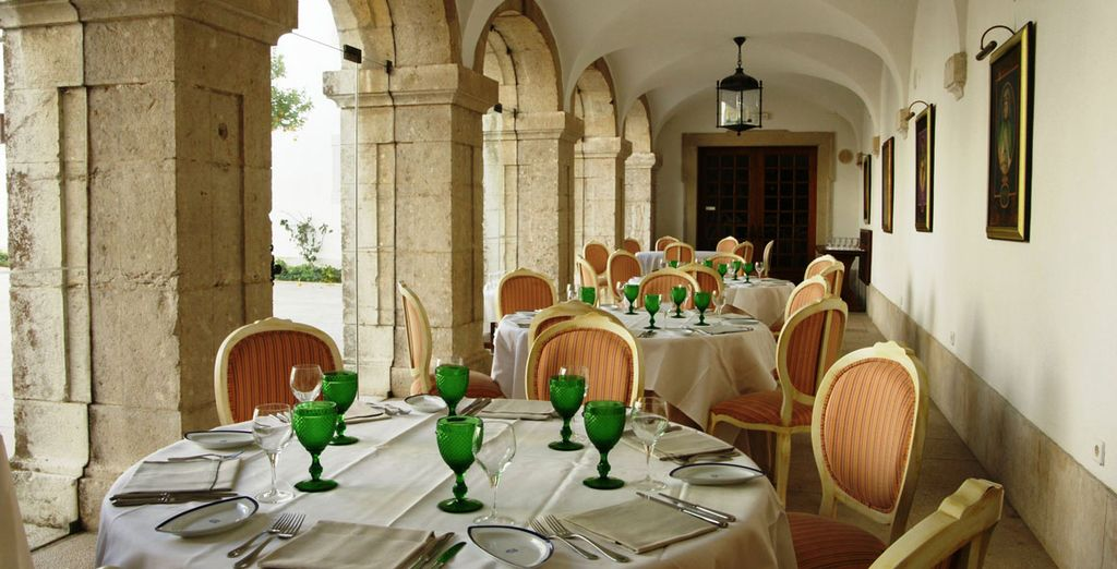 Enjoy meals in the hotel restaurant