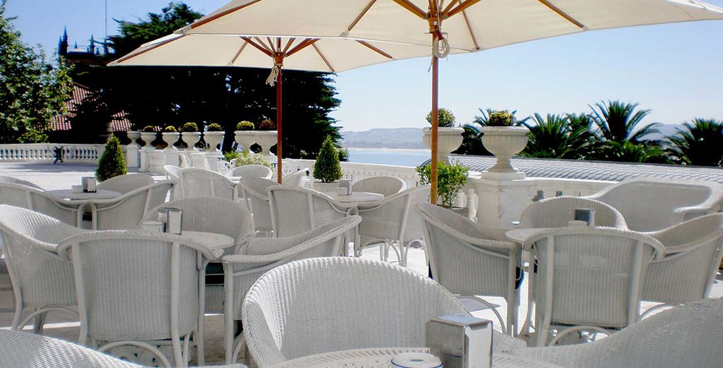 Or in warmer months, dine outside on the terrace
