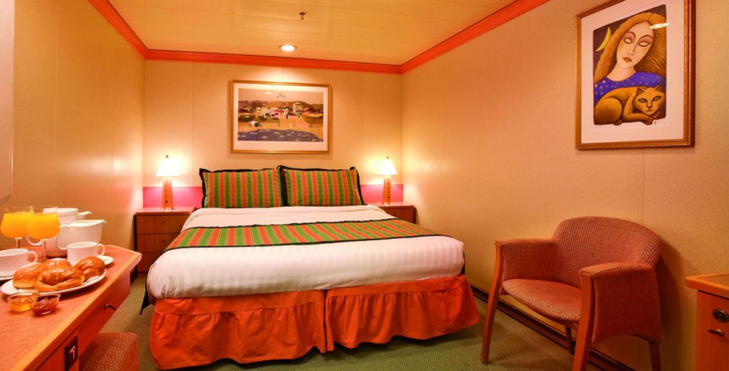 Choose from an Inside Stateroom