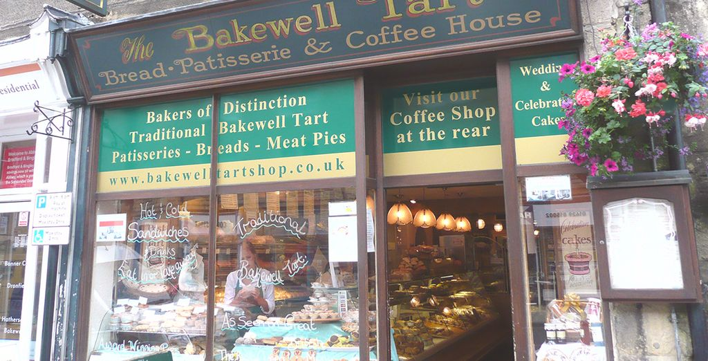 And of course you must try a famous bakewell tart!