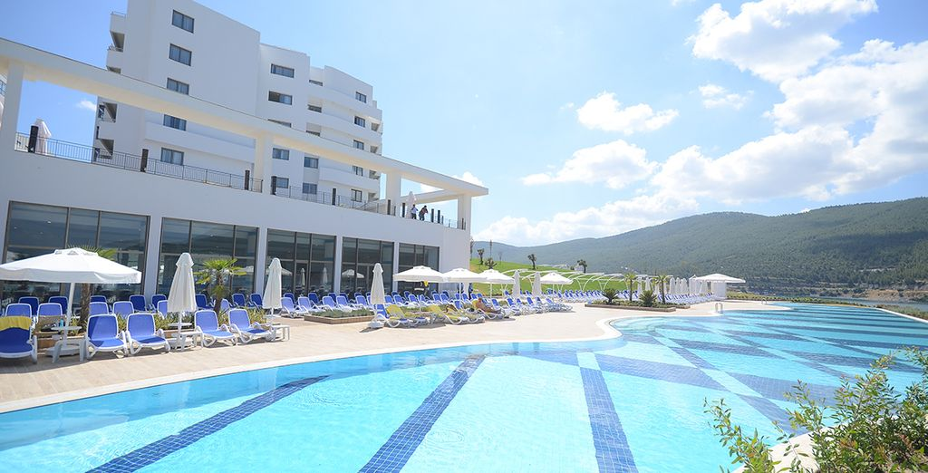At this new, modern hotel near Bodrum