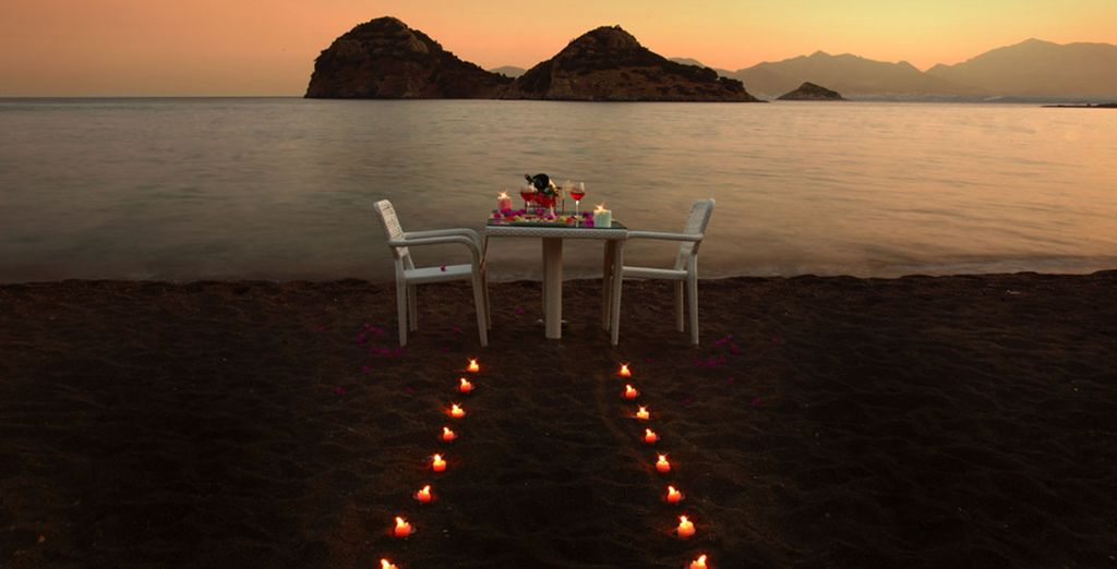 Or book a romantic beach meal for a special occassion