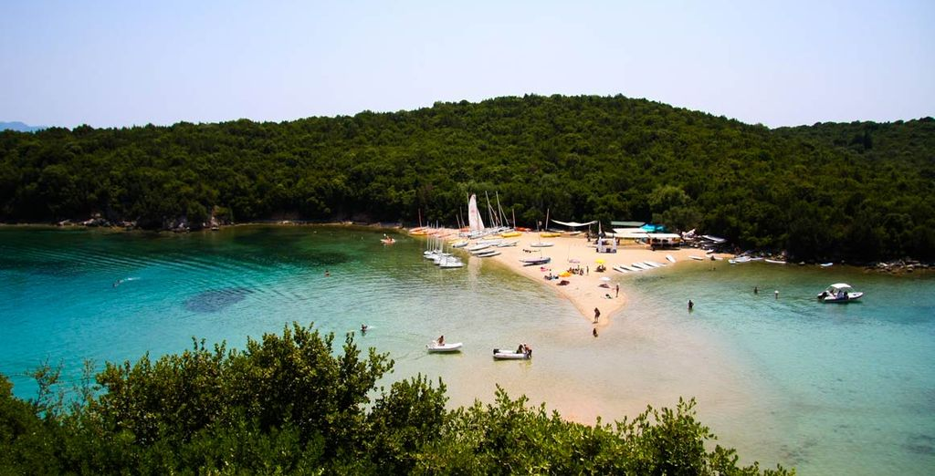 Discover the tiny coves, green hills and secluded beaches