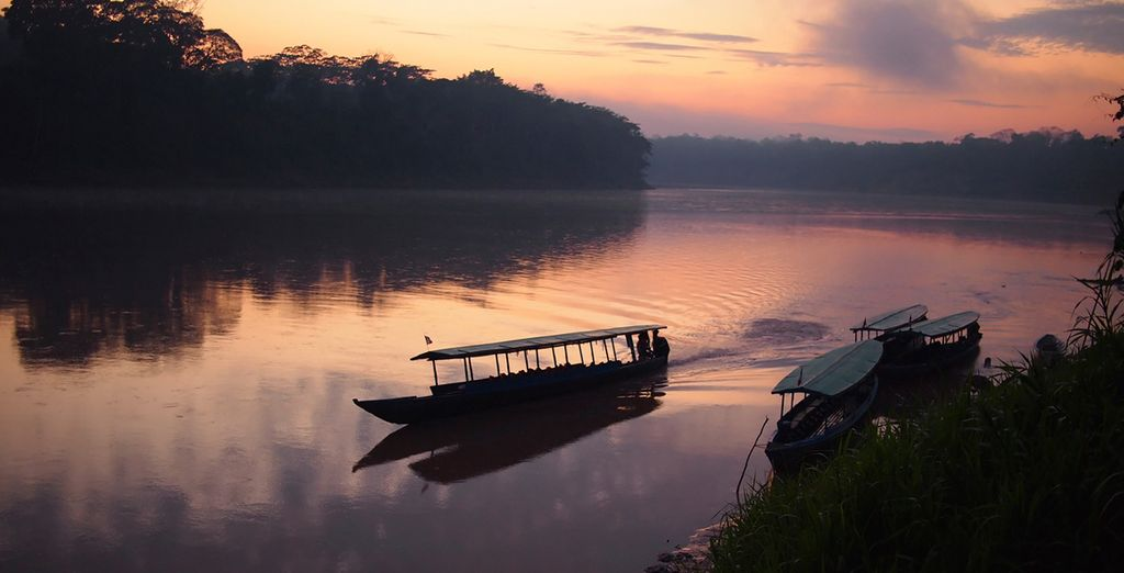 Including a tranquil boat ride to your jungle lodge