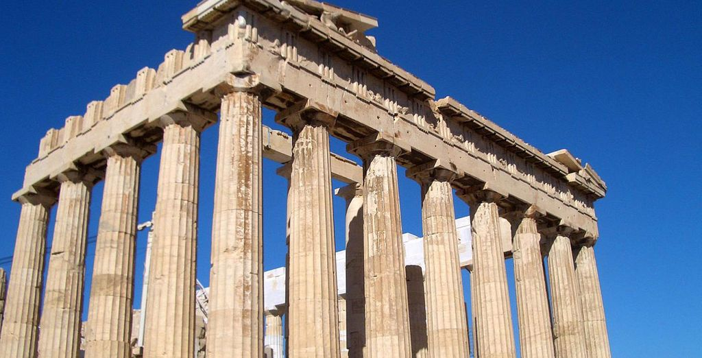 Start with a 1 night stay in mythical Athens