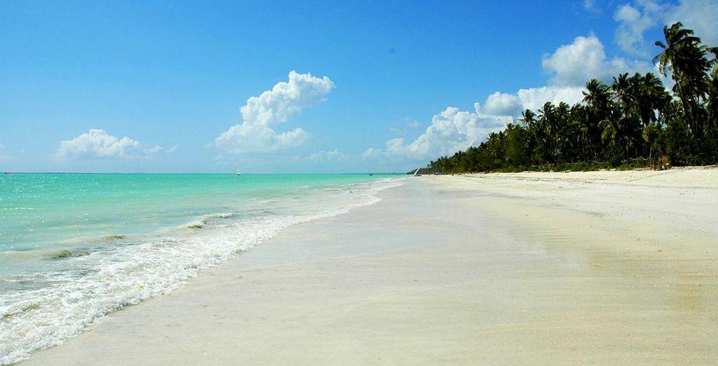 Next we will whisk you away to the stunning white sand beaches of Zanzibar