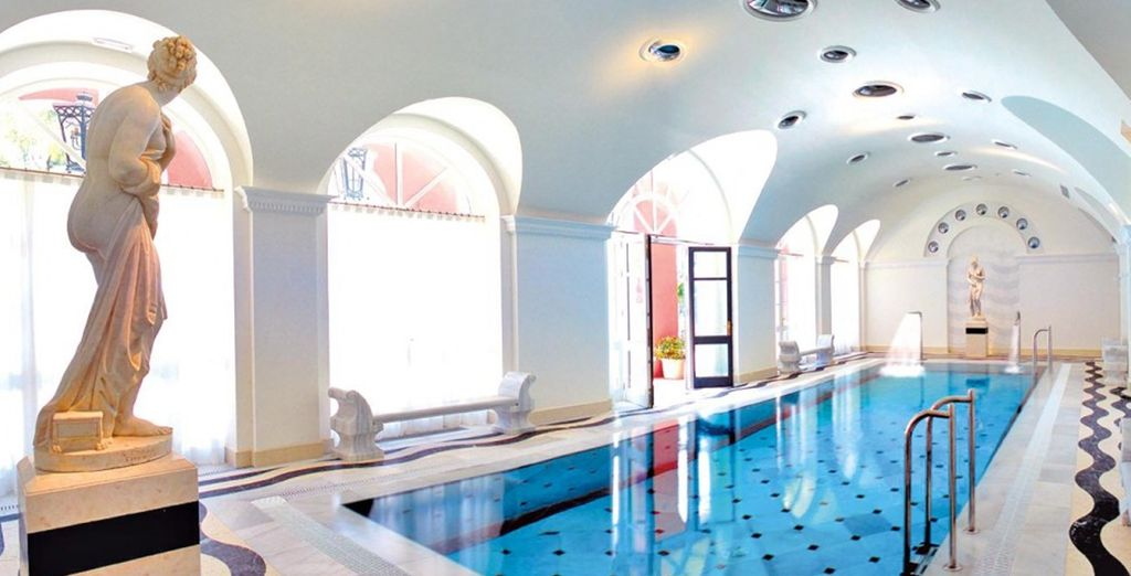 Rejuvenate with the extensive spa: indoor pool, gym, saunas, steam rooms and more