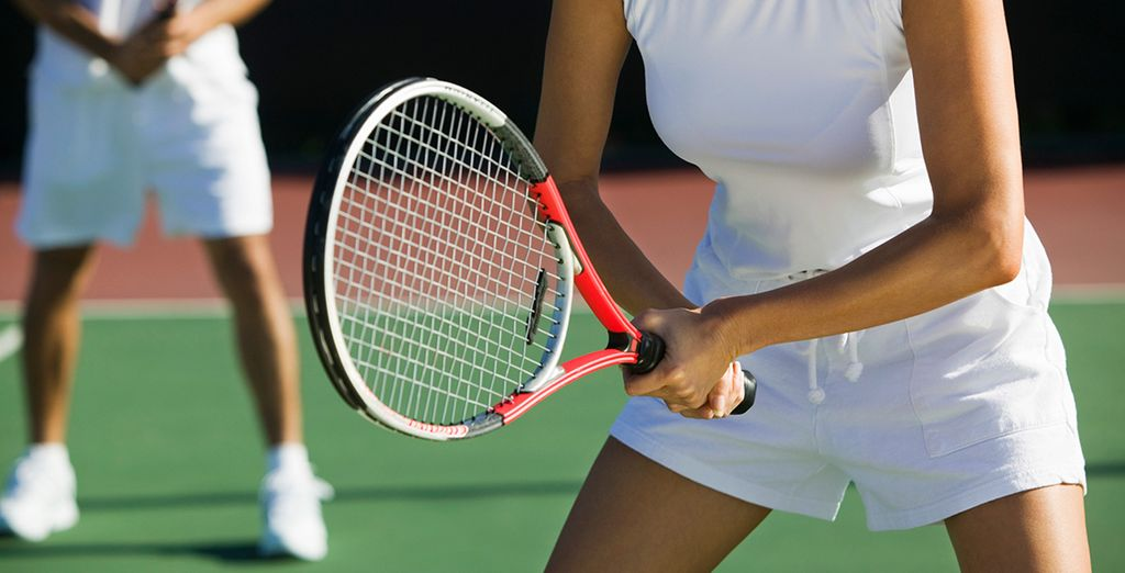 Or play some tennis on the many courts