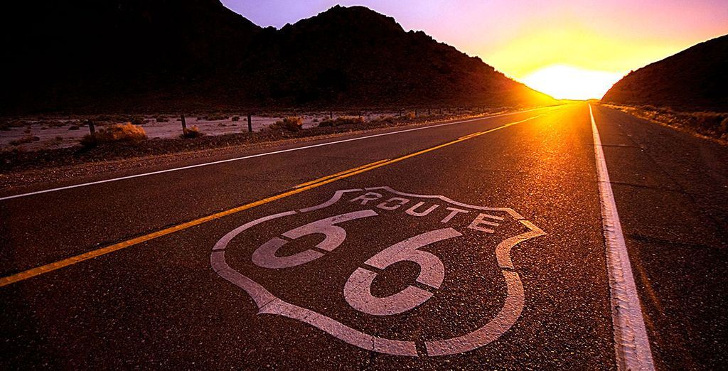Drive across the legendary Route 66!