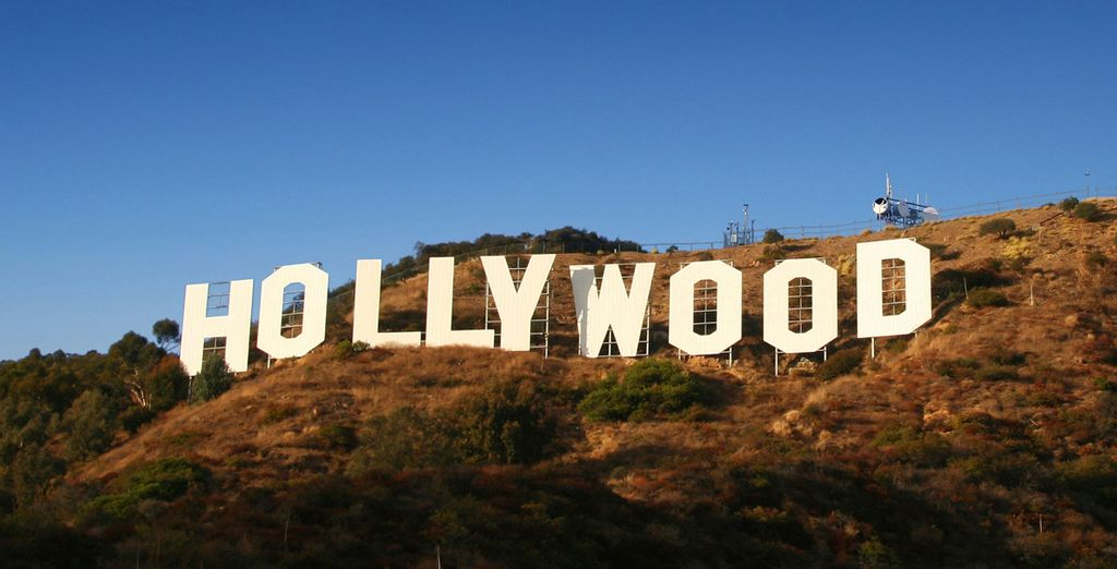 And the famous sign of Hollywood, Los Angeles