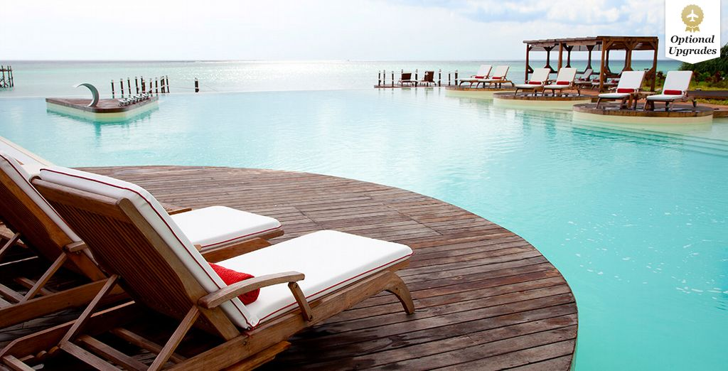 Laze by the pool...