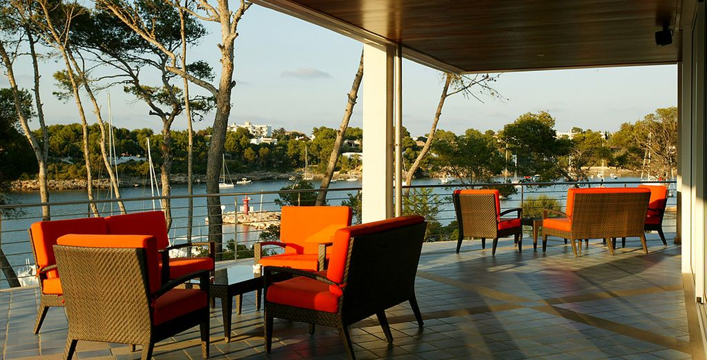 Then relax with an afternoon drink on the terrace