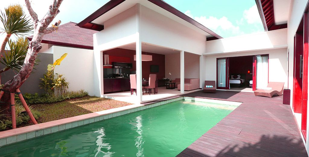 Experience your very own private pool villa