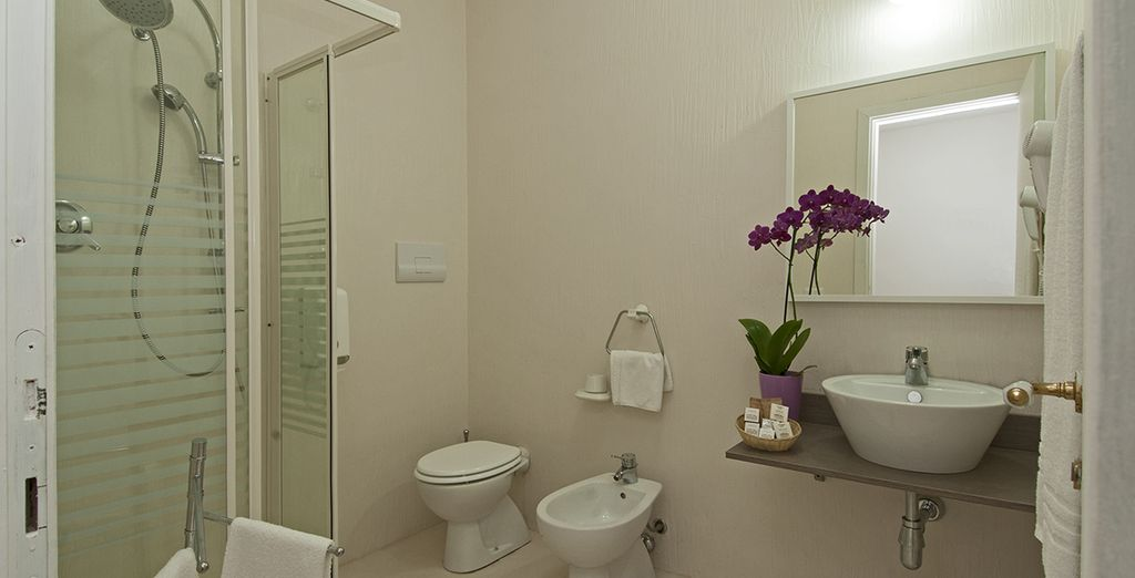Complete with a modern ensuite bathroom