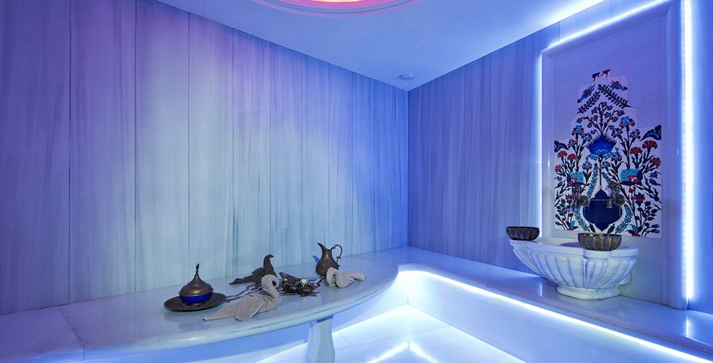 Or head to the extravagant spa to truly unwind