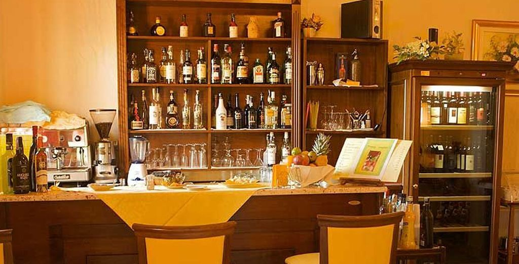 Enjoy a fabulous glass of wine at the bar