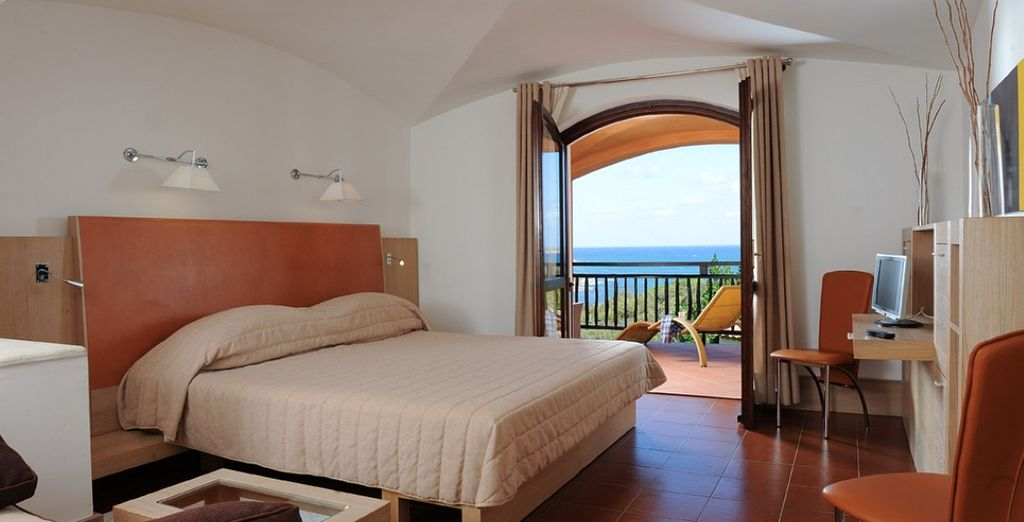 Or upgrade to a Superior Room with a view towards the sea