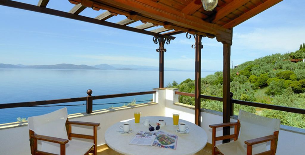 Enjoy breakfast on your balcony