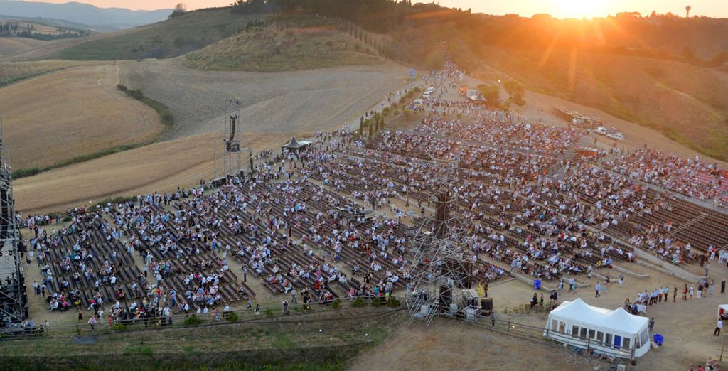 This incredible, open air theatre was built with the help of Bocelli himself