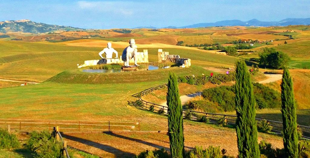 Surrounded by the rolling hills of Tuscany...