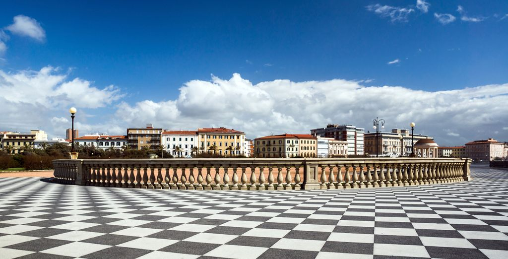 Visit Livorno's sites such as the Terrazza Mascagni overlooking the sea