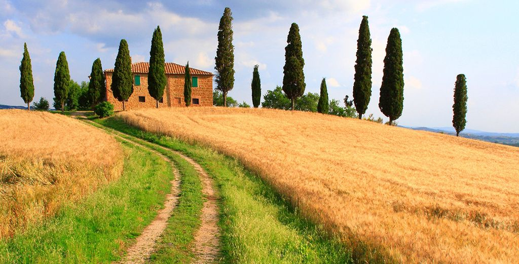 Set in the Tuscan countryside