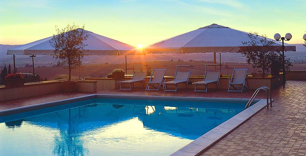 Sunset views by the pool...