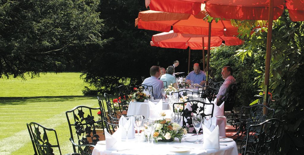 Dine out in the garden during the summer months