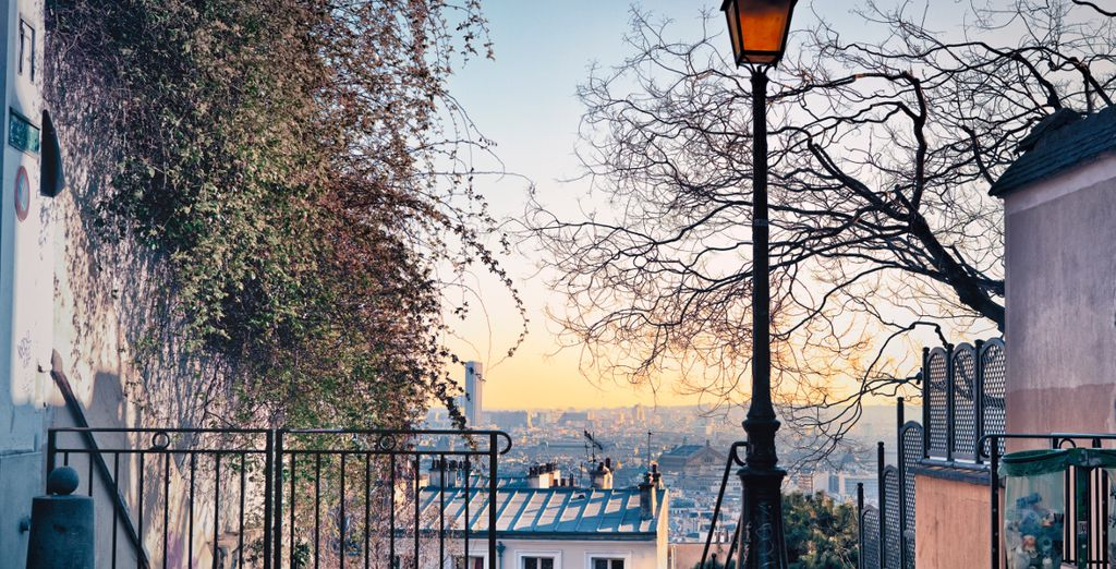 Take in the views from the charming streets of Monmartre