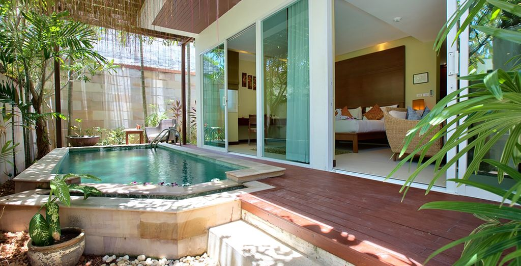 Complete with a private pool which you can dip into at your leisure