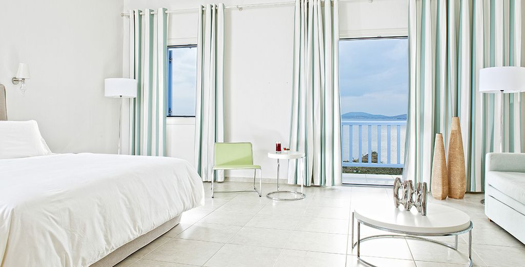 Choose from a Superior Sea View Suite....