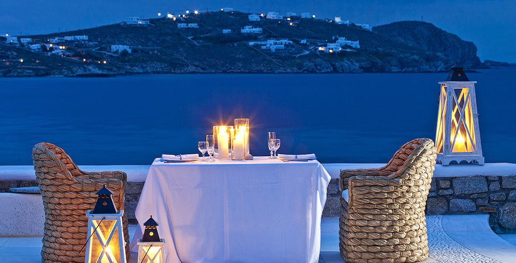 In a romantic setting...