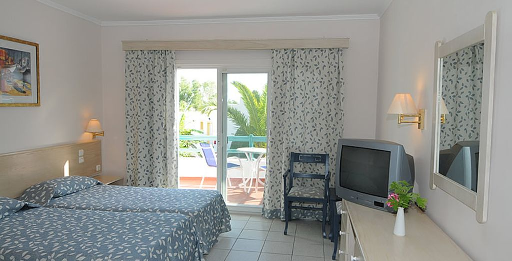 Our members can enjoy a Garden View Room