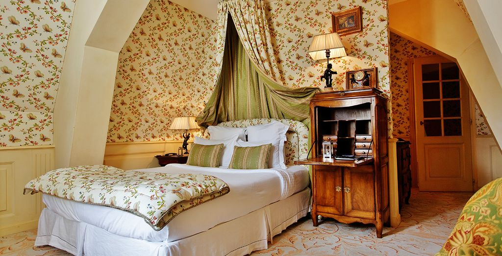Each is individually styled with antique furniture and the finest fabrics