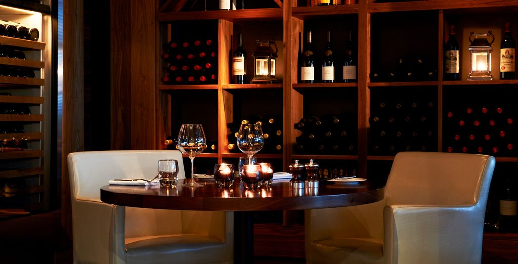 Savour a glass of wine by candlelight